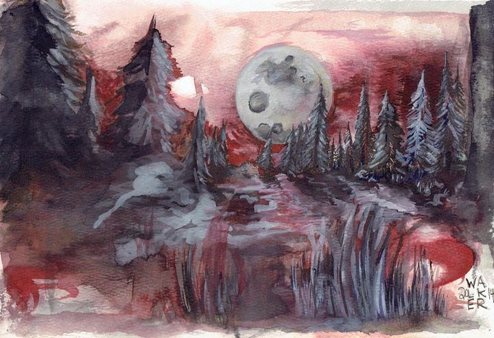 Moon Worship - Borax's Watercolours and Drawings
