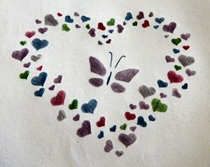 Butterfly and Hearts