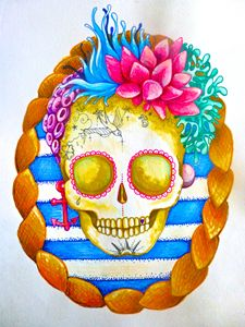 skull sea surf beach tattoo sailor