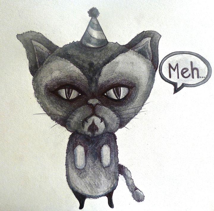 grumpy cat party poop sad cartoon - busyspider