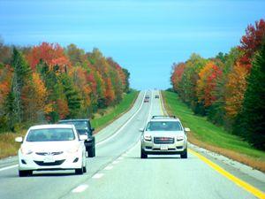 Drive at Fall Season
