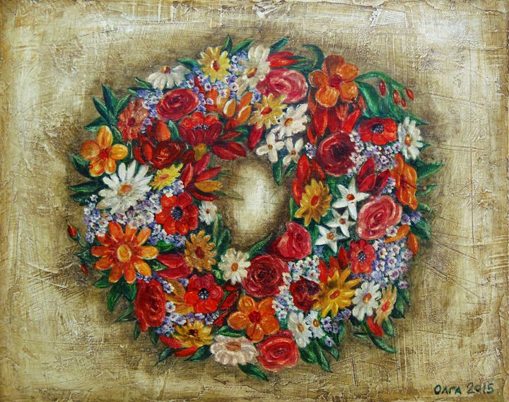 Wreath - myfolkartpaintings