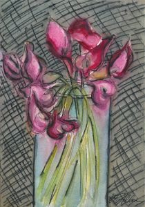 Calla Lilies in a Glass Vase