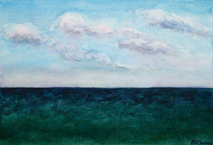 Ocean at Montauk - Erin Hollon Fine Art and Illustration