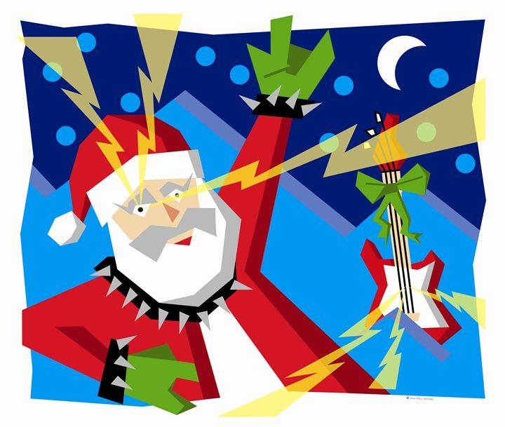 Santa Likes It Heavy - John Paul DeHaas Art In Action