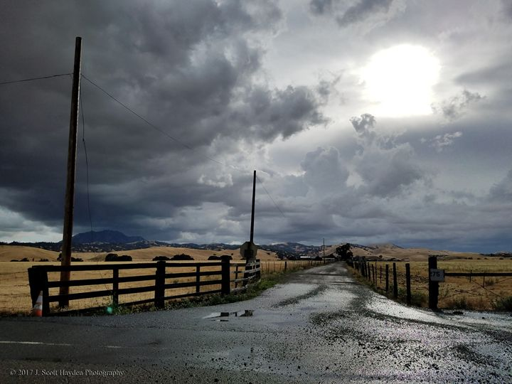 Country Road Hailstorm - J. Scott Hayden