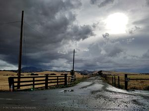 Country Road Hailstorm