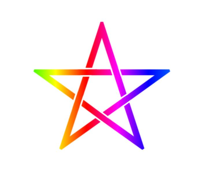 Rainbow Pentagram #2 - My Evil Twin