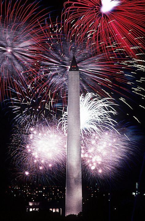 Fireworks At Washington Monument - My Evil Twin