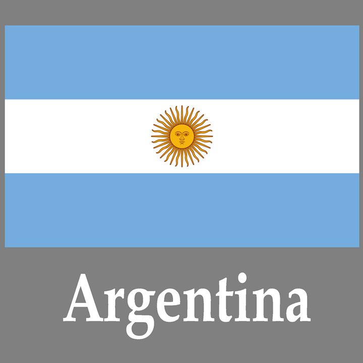 Argentina Flag And Name - My Evil Twin