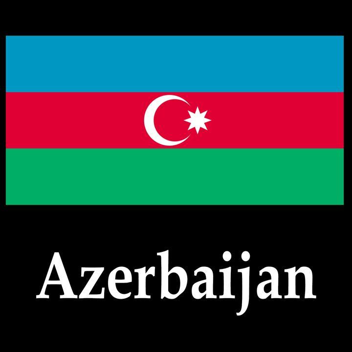 Azerbaijan Flag And Name - My Evil Twin