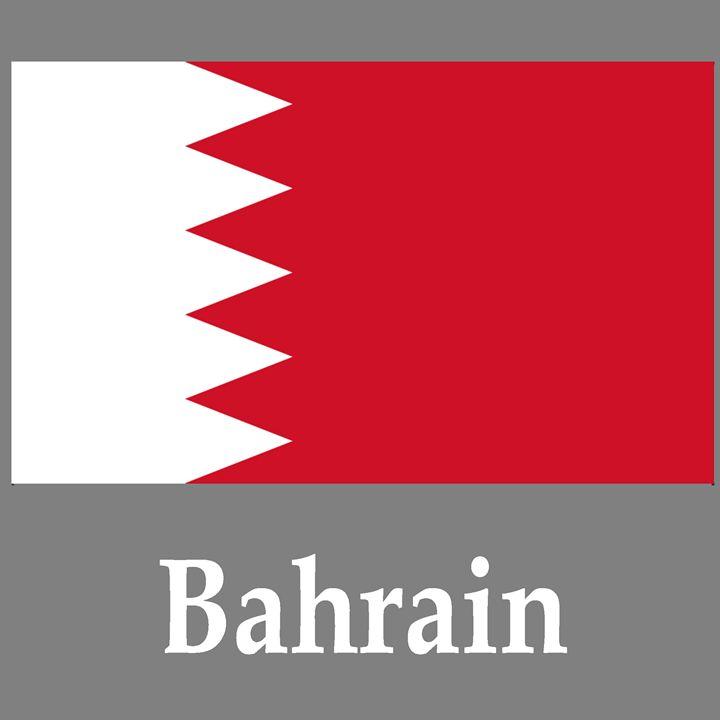 Bahrain Flag And Name - My Evil Twin