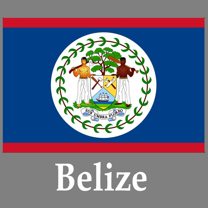 Belize Flag And Name - My Evil Twin