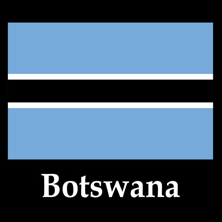 Botswana Flag And Name - My Evil Twin