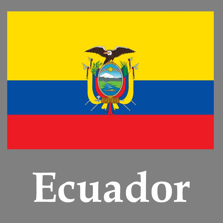 Ecuador Flag And Name - My Evil Twin