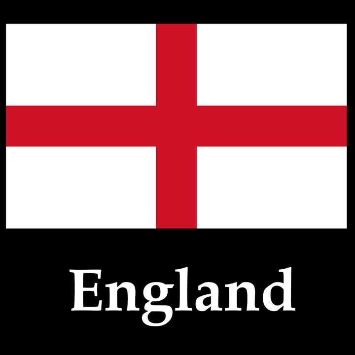 England Flag And Name - My Evil Twin