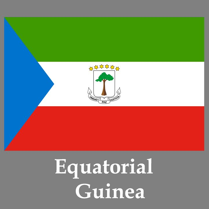 Equatorial Guinea Flag And Name - My Evil Twin