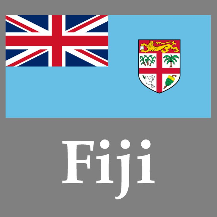 Fiji Flag And Name - My Evil Twin