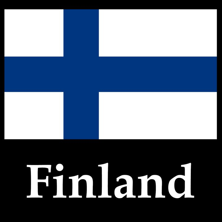 Finland Flag And Name - My Evil Twin