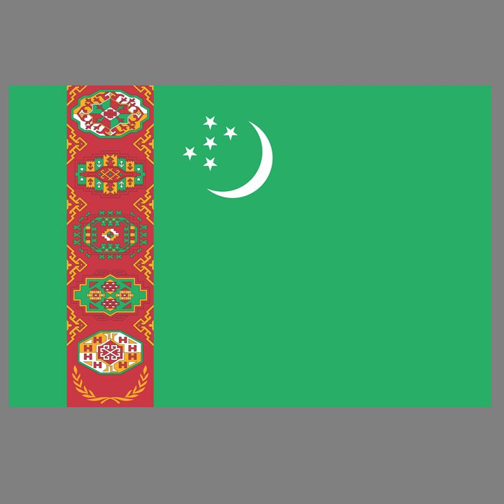 Turkmenistan Flag - My Evil Twin