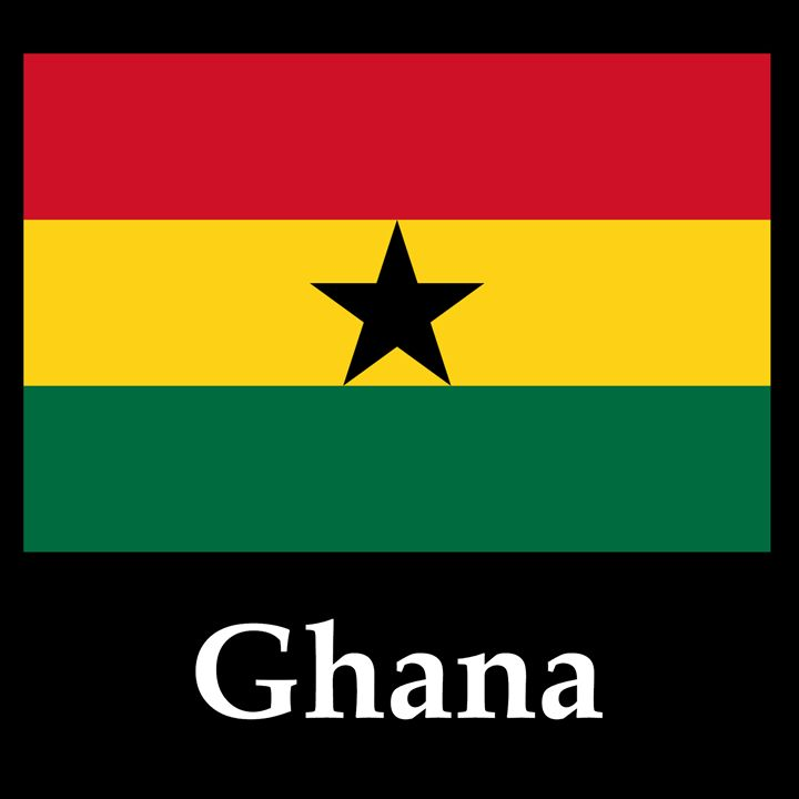 Ghana Flag And Name - My Evil Twin