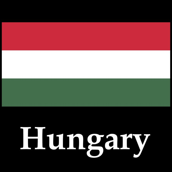 Hungary Flag And Name - My Evil Twin