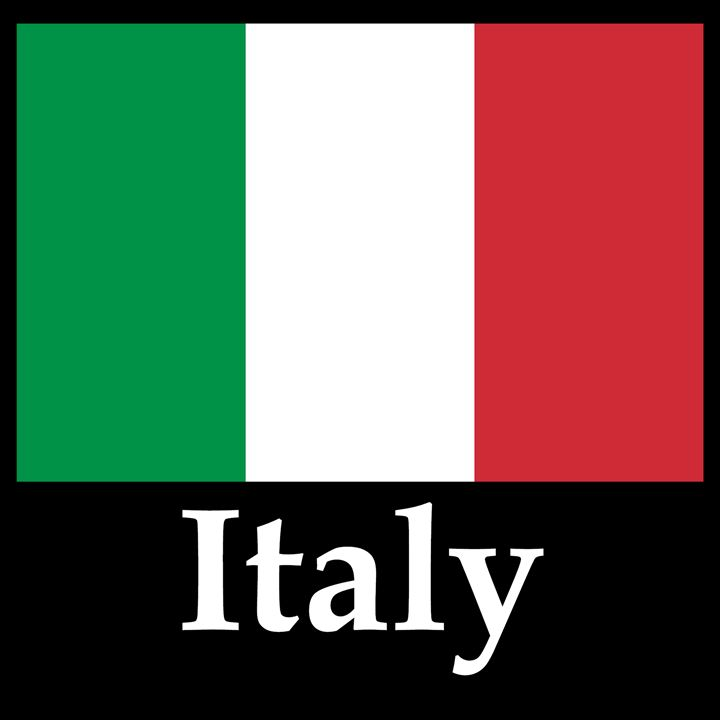 Italy Flag And Name - My Evil Twin