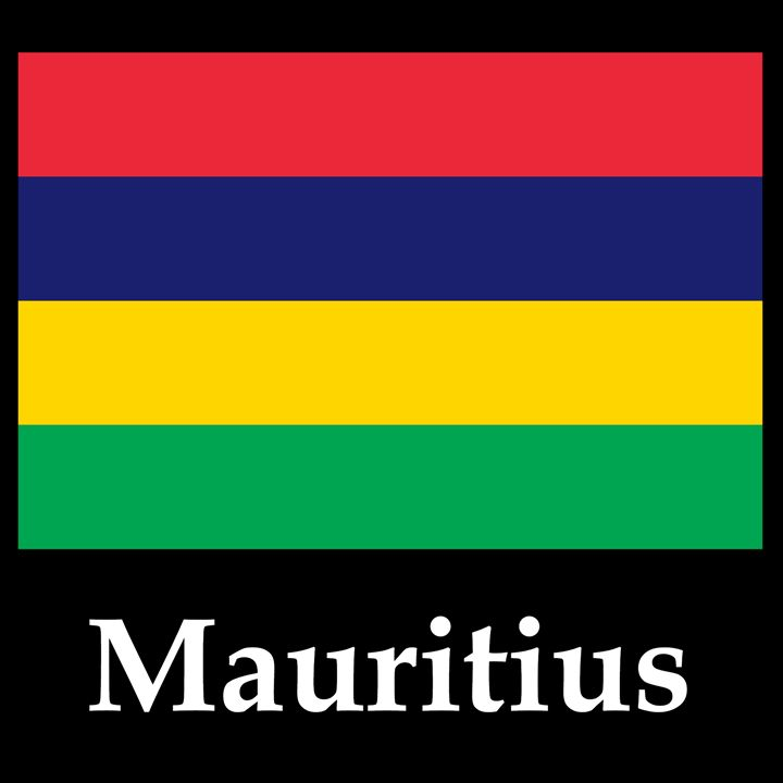Mauritius Flag And Name - My Evil Twin