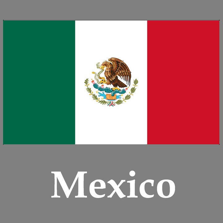 Mexico Flag And Name - My Evil Twin