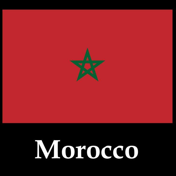 Morocco Flag And Name - My Evil Twin