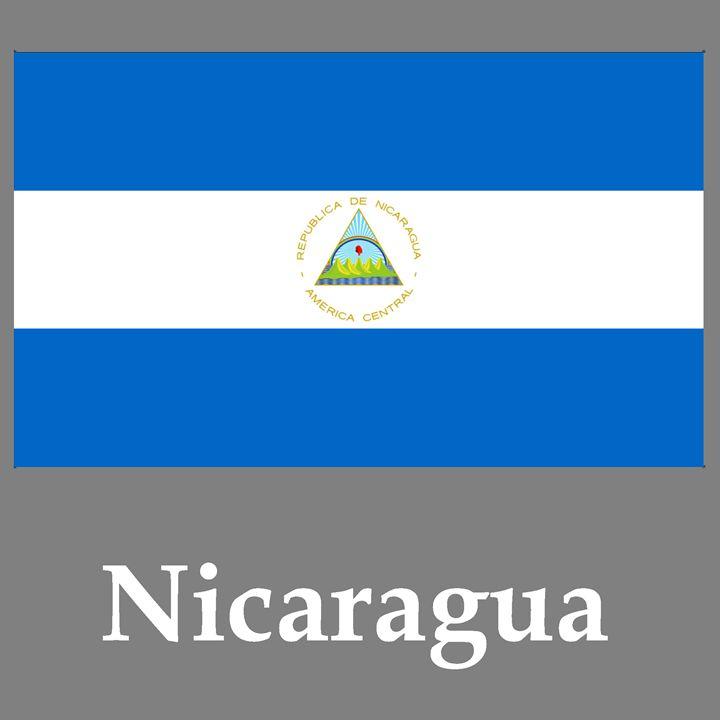 Nicaragua Flag And Name - My Evil Twin