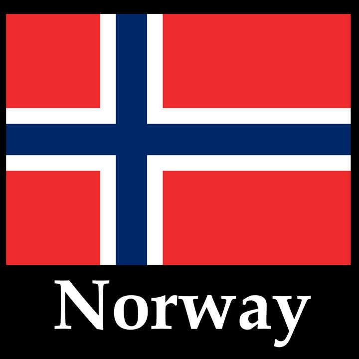 Norway Flag And Name - My Evil Twin