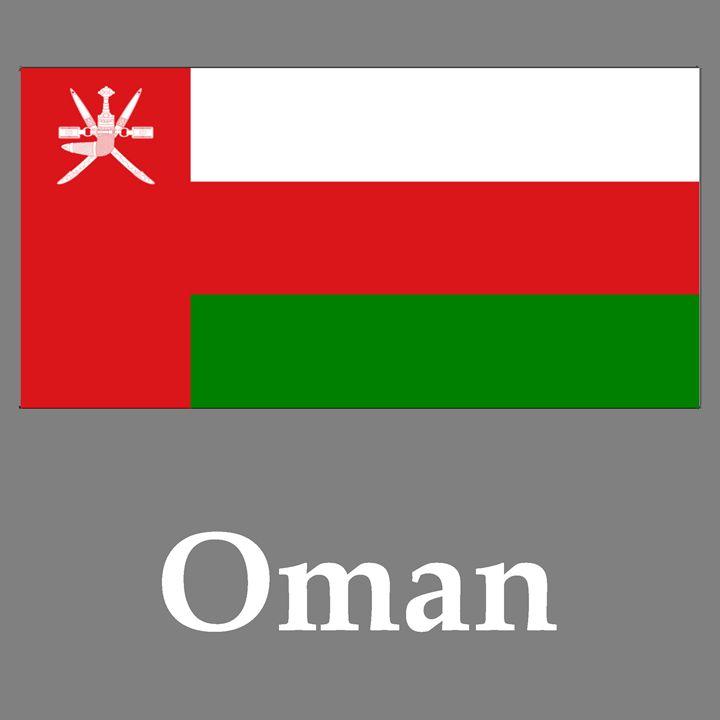 Oman Flag And Name - My Evil Twin