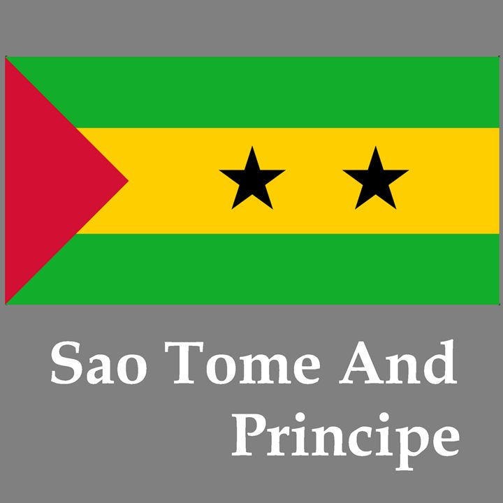 Sao Tome And Principe Flag And Name - My Evil Twin