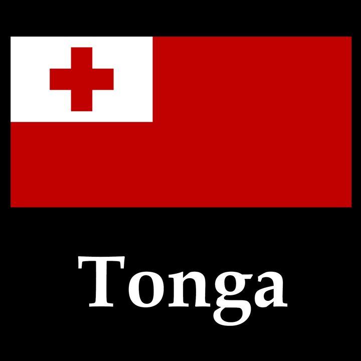 Tonga Flag And Name - My Evil Twin