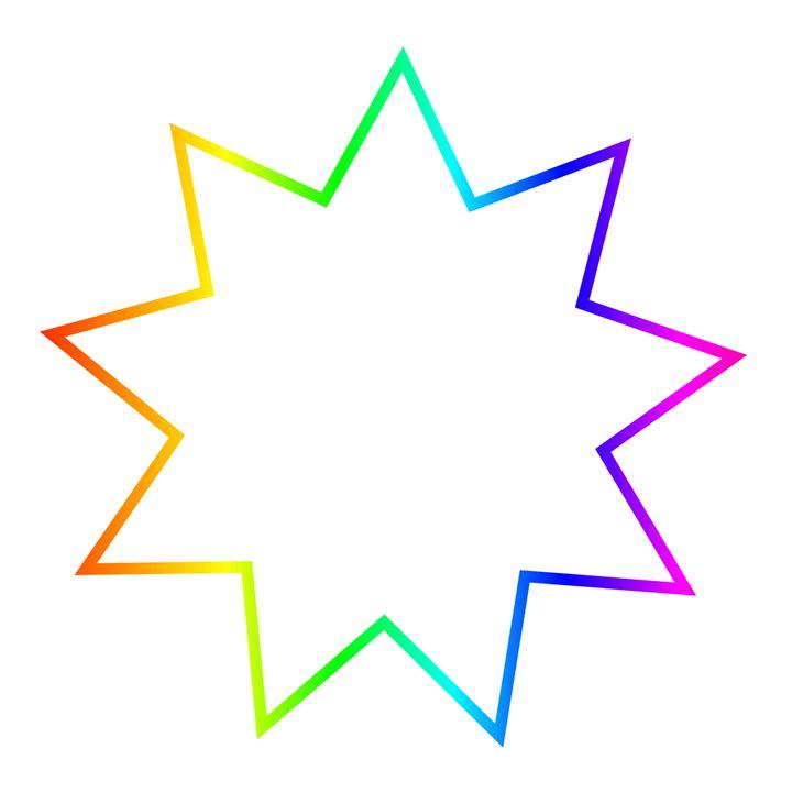 Rainbow Bahai Symbol - My Evil Twin