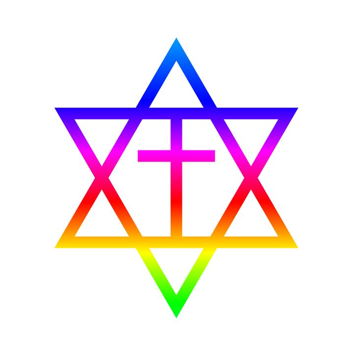 Rainbow Messianic Jew Symbol My Evil Twin Digital Art Religion