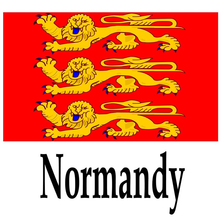 Normandy, France Flag And Name - My Evil Twin