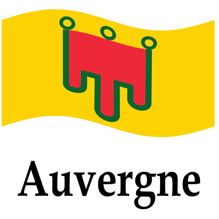 Auvergne, France Flag And Name - My Evil Twin