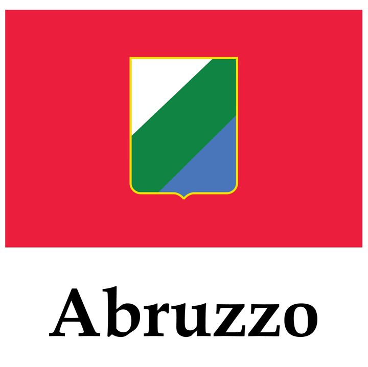 Abruzzo, Italy Flag And Name - My Evil Twin