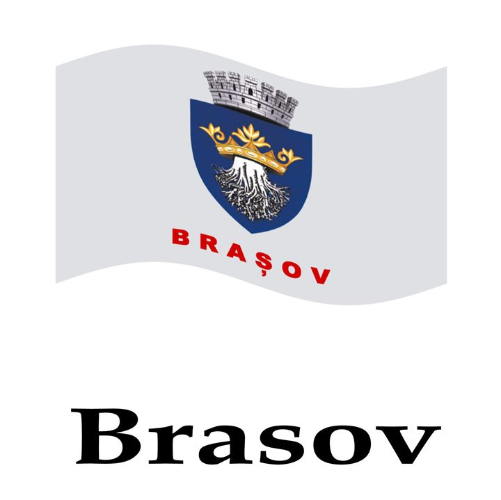 Waving Brasov, Romania Flag - My Evil Twin