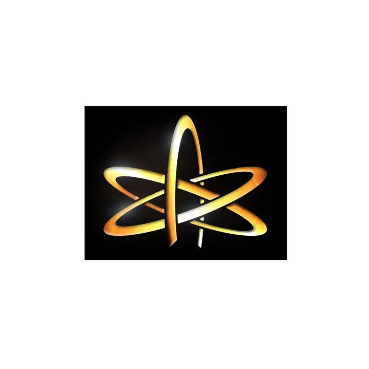 Gold Atheism Symbol - My Evil Twin