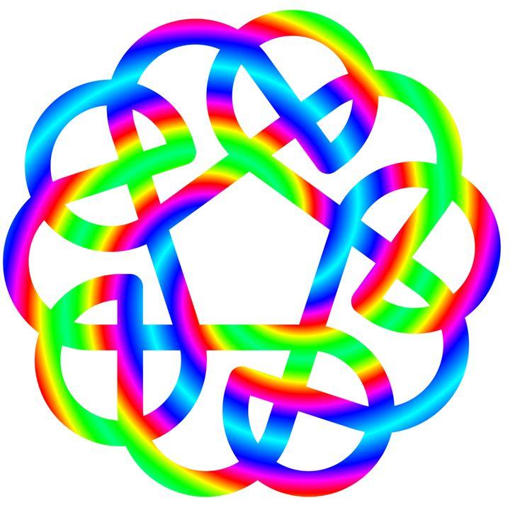 Rainbow Celtic Knot - My Evil Twin