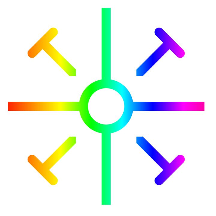 Rainbow Coptic Cross - My Evil Twin