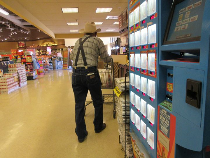 Old Cowboy Shopping For Food - My Evil Twin
