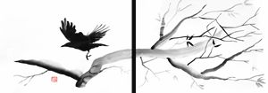 Crow diptych