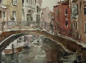 On the bridge - Venetian landscape