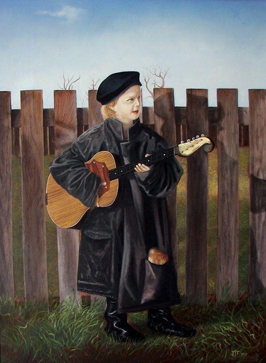 Little musician - Jovica Petrovic Art