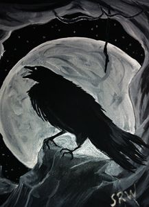 Full Moon Crow