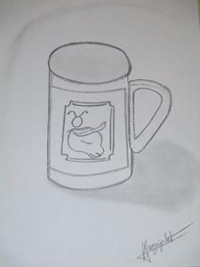 Bull on cup